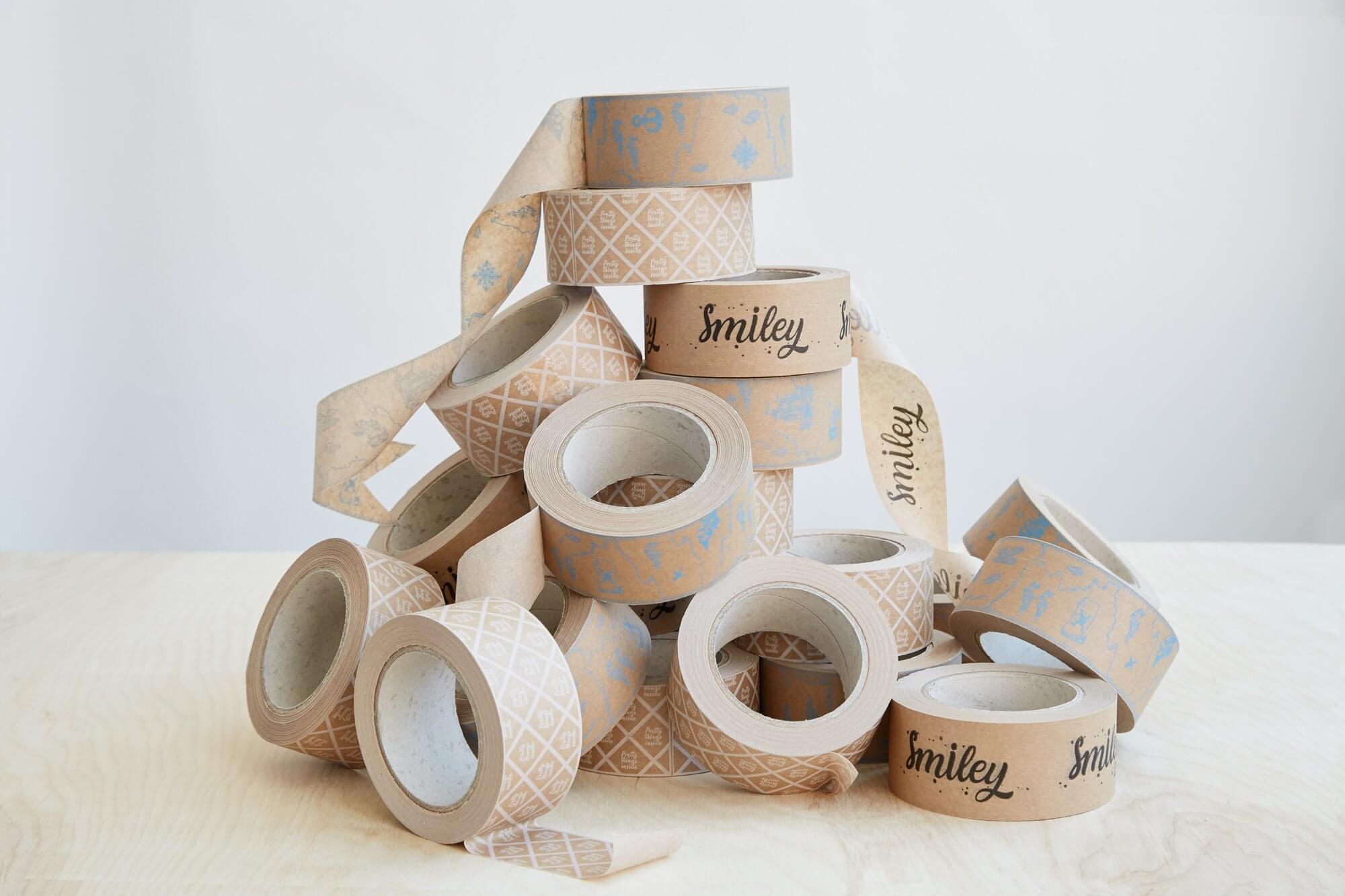 Kraft balící pásky s potiskem